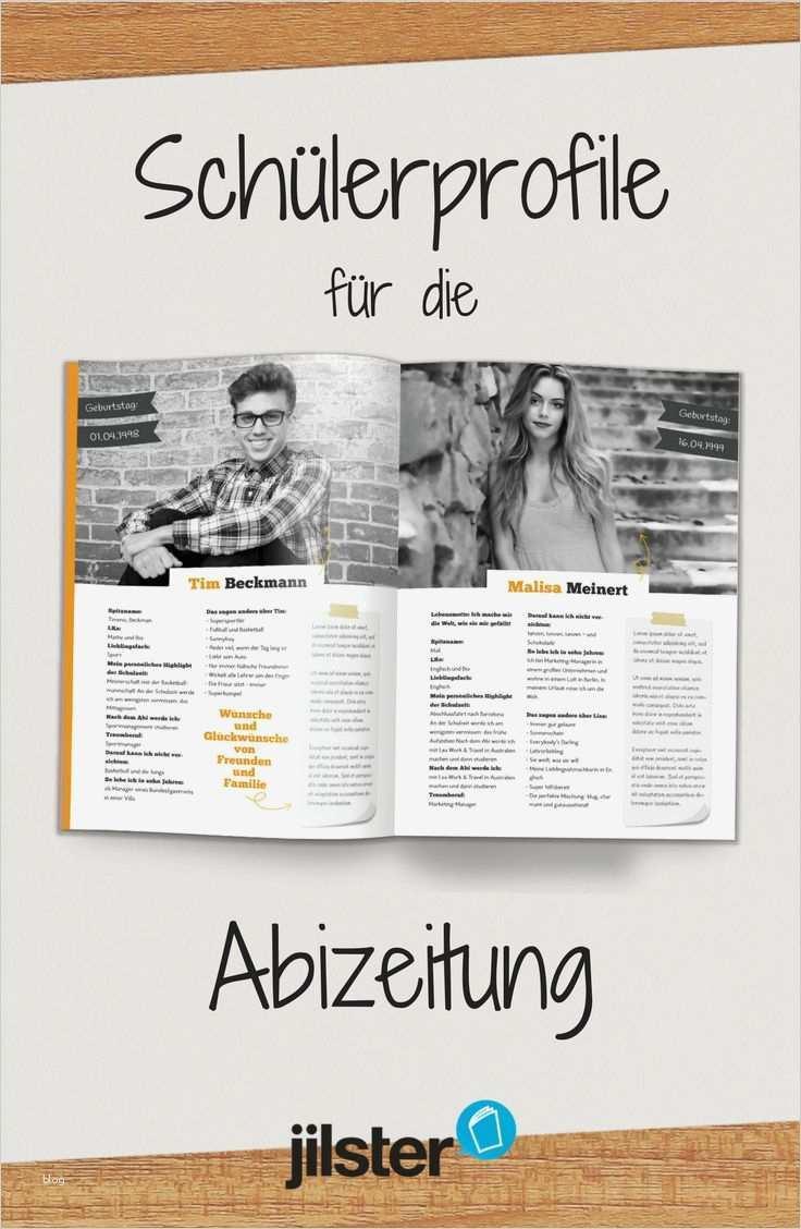 Abschlusszeitung Steckbrief Vorlage Wunderbar 41 Best