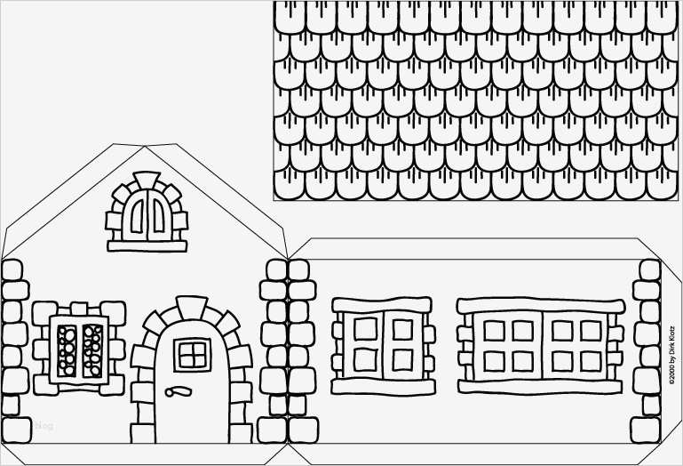 bastel vorlagen elegant hexenhaus aus karton  vorlage ideen
