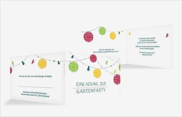 einladung gartenparty vorlage neu einladungskarten