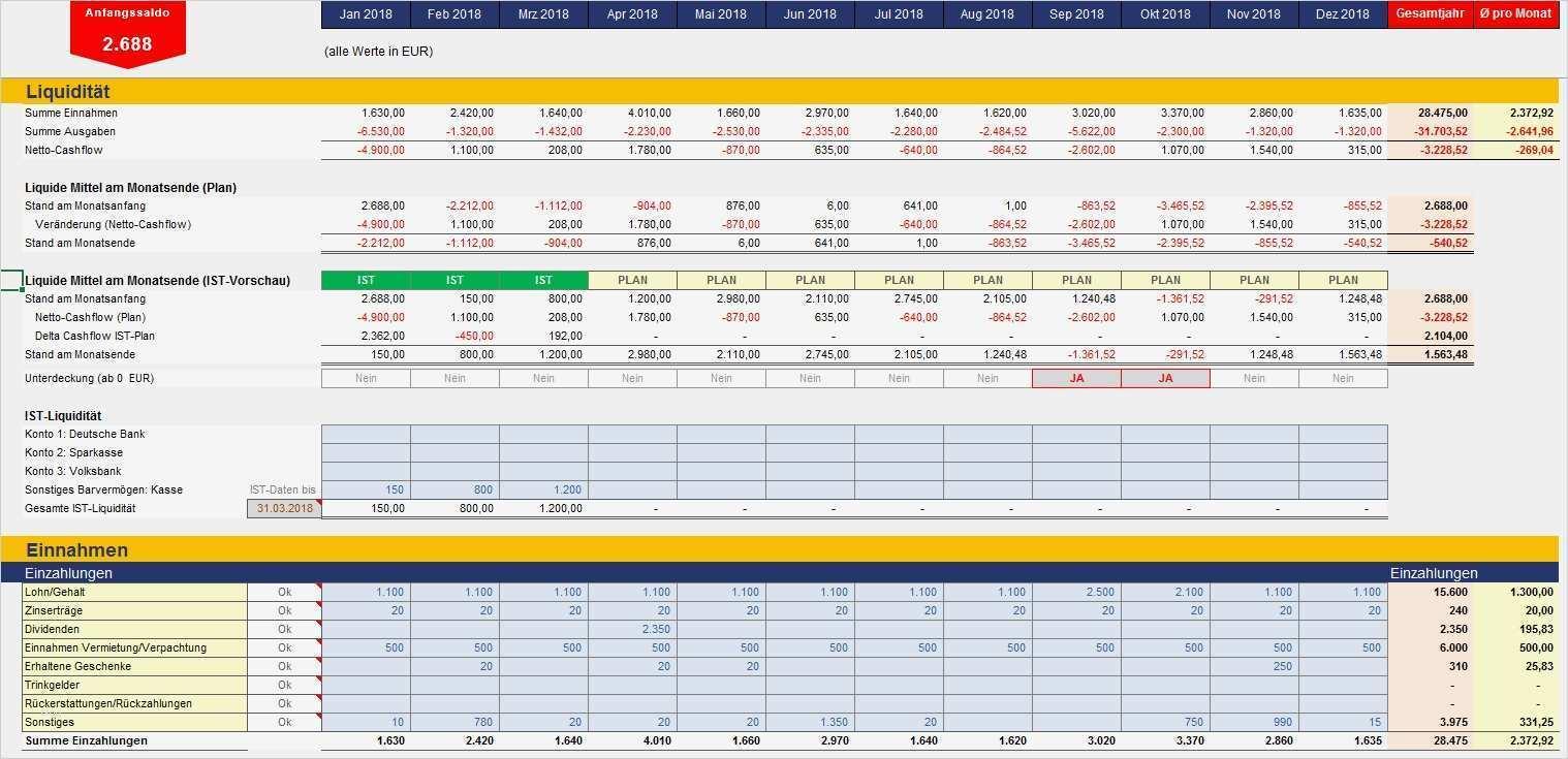 Excel Tabelle Einnahmen Ausgaben Vorlage Wunderbar Haushaltsbuch Premium   Vorlage Ideen