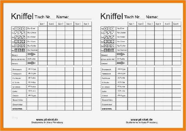 German Score Sheet Extensions 6