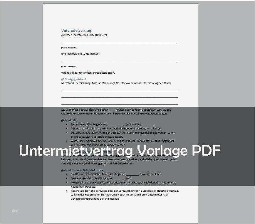 Untermietvertrag Vorlage Wg Wunderbar Standard Mietvertrag