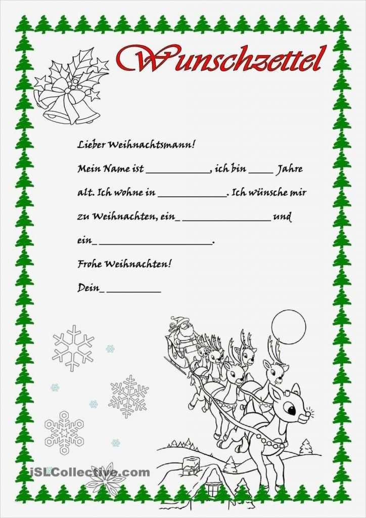 34 angenehm wunschzettel weihnachten vorlage bilder