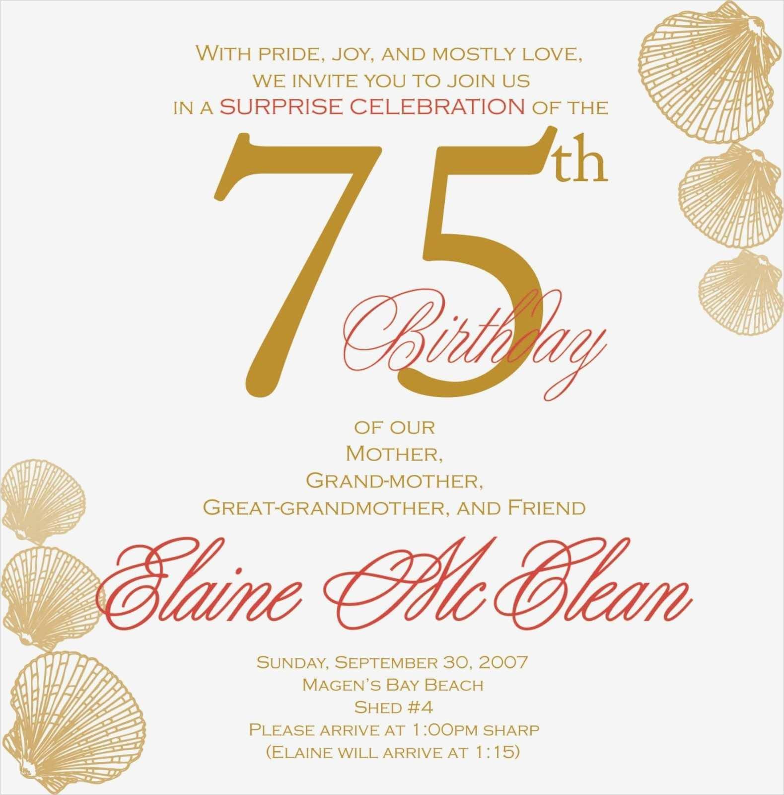 einladungskarten 75 geburtstag vorlagen wunderbar