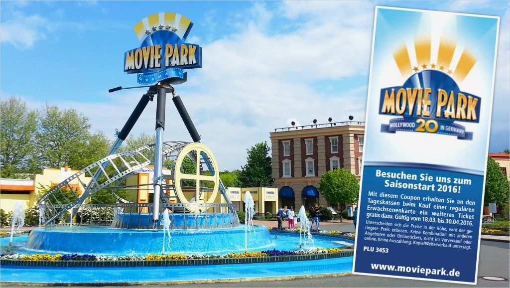 Gutschein Vorlage Freizeitpark Best Of Movie Park
