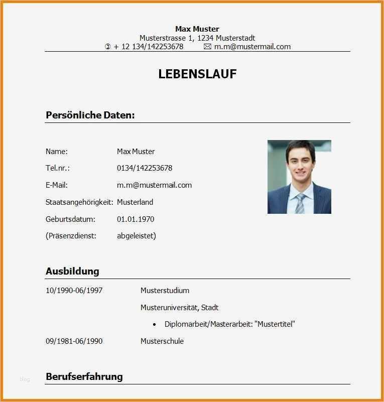 Lebenslauf Schüler Vorlage 2017 Erstaunlich 11 Lebenslauf ...