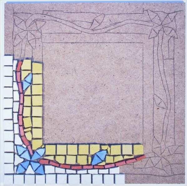 mosaik vorlagen kinder schön spiegel basteln mosaik set