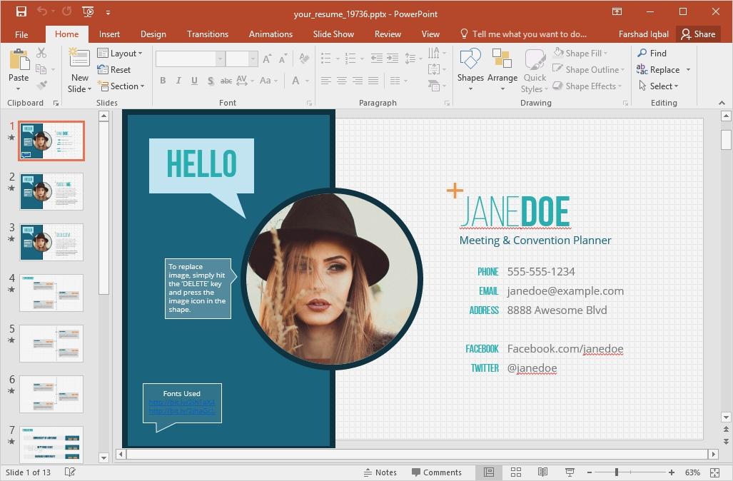 Powerpoint Präsentation über Sich Selbst Vorlage Schönste